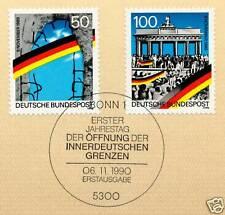 BRD 1990: Grenzöffnung Nr. 1481+1482 mit Bonner Ersttagssonderstempel! 1A! 1711