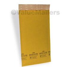 250 #00 5x10 Kraft ^ Ecolite Bubble Mailers Padded Envelopes 5 x 10