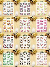 12 Sheets Nail Art Water Transfer Decals Sticker French Pattern YB349-360