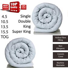 Quality ANTI ALLERGENIC Soft QUILT DUVET With COROVIN Cover 10.5 13.5 15 TOG
