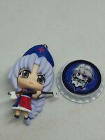 2pc Touhou project figure keychain strap charm pin badge anime Japan kawaii lot