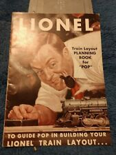 """Lionel Train Layout Planning Book for """"POP"""" 14 Pages,  5"""" X 7"""", 1949"""