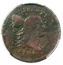 1795 Liberty Cap Flowing Hair Half Cent 1/2C (Punctuated Date). PCGS Good Detail