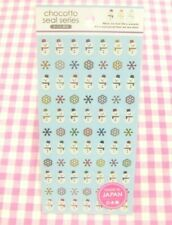 GAIA / Winter Snowman Snow Foil Sticker Sheet / Made in Japan