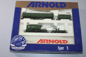 Arnold 70298 Freight Car Set With Mobile Crane N Gauge Boxed