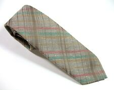 SKINNY Wembley VINTAGE Neck Tie Soft Tan Plaid Polyester & Cotton Necktie $11.50