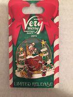 2015 Disney MVMCP Mickey's Very Merry Christmas Party Logo Pin Mickey Minnie