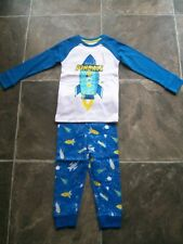 BNWT Boy's Rocket Cotton Knit Winter Pyjamas Size 2