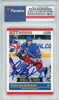 Ryan McDonagh New York Rangers Signed 2010-11 Score #632 Rookie Card - Score