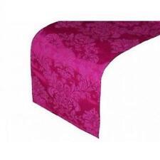 rosa fucsia estampado adamascado Camino de mesa