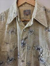 """(10) Men's Perminant Press Long Tail Ranchwear 70's style Cowboy shirt46"""" XL"""