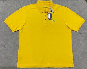 Tommy Bahama Size XL Polo Shirt Supima Cotton UPF 50 Protection Bright Lemon NEW