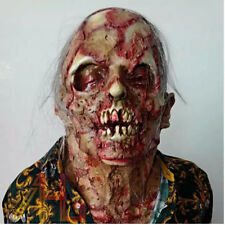 The dreaded Zombie Halloween Horror Monster Face Mask Party Adult Scary Prop