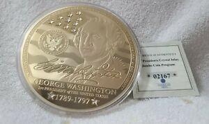 American Mint George Washington 1st President Proof Commemorative Jumbo Coin COA