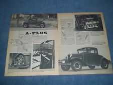 "1930 Ford Model A 5-Window Coupe Vintage Hot Rod Article ""A-Plus"""