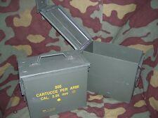 Cassetta portamunizioni in lamiera. Calibro 5,56 mm