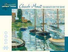 Pomegranate Jigsaw - Sailboats on the Seine by Monet (1000 pieces)