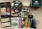 MILITARY JOBLOT MEDALS RIBBONS COINS BADGES ETC HOUSE CLEARANCE (WW1/WW2 ETC)