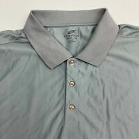 Ultra Club Polo Shirt Men's Size 3XL XXXL Short Sleeve Gray Cool & Dry Casual