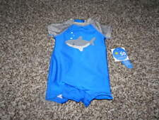 NWT NEW WAVE ZONE 0-3 SHARK SWIMSUIT OUTFIT BOYS