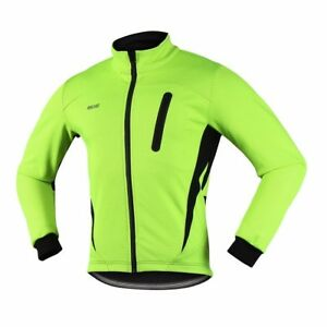 Cycling Jacket Winter Fleece Bicycle Clothing Windproof Waterproof Sports Coat