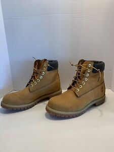 Timberland 6 Inch Premium Waterproof Boots 10061 Wheat US Men Size 11M
