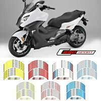 "17"" Motorcycle wheel Stickers Decorated reflective Decals For BMW C650 Sport"