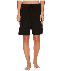 Seafolly - High Water Black Woman's Boardshorts  Size XL 15813
