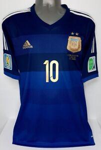ADIDAS ARGENTINA WC2014 AWAY MESSI L ORIGINAL SOCCER FOOTBALL JERSEY SHIRT