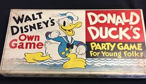 """1938 Parker Brothers Walt Disney's own """"Donald Duck's Party Game"""" WDE uncommon"""