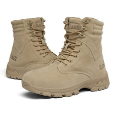 New Desert Shoes Mens High Top Lace up Boots Military Tactical Combat Army Boots