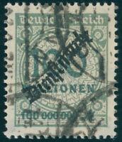 DR 1923, D 82, echt gestempelt, Kurzbefund Weinbuch, Mi. 200,-