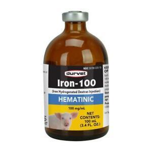 Iron Dextran Inj 100mg / ml 100 ml bottle