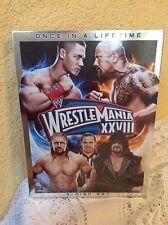 WWE WRESTLEMANIA XXVIII DVD 3 DISC SET ONCE IN A LIFETIME WRESTLING HISTORY