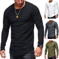 T-Shirt Ajusté En Coton À Manches Longues Pour Hommes En Vo JE