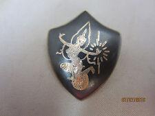 Sterling Silver Enamel Siam Dancer Shield pin 5g
