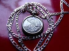 "New Zealand Tuatara Lizard 5 Pendant on a 28"" Sterling Silver Figaro Chain"