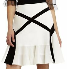 "BCBG RUNWAY NWT ""Jada""White/Black Party Skirt New M $298 MUV3E298-114"