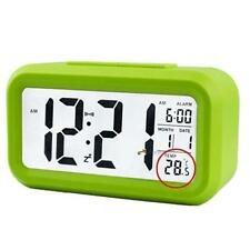 Snooze LED Digital Alarm Clock Thermometer Date Time Night Smart Light LCD G LN