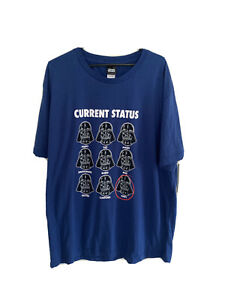 Star Wars Current Status Novelty T-Shirt Blue Size 2XL BNWT
