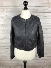 MISS SIXTY Faux Leather Jacket - Medium UK12 - Black - Great Condition - Women's