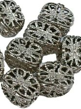 20 Vintage Silver Filigree Tube Barrel Spacer Beads 7 X 11 mm