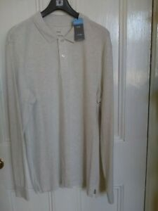 Marks and Spencer Pure Cotton Polo Shirt  Large  chest 41-43in New ecru colour