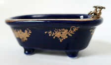 Bathtub Shaped Blue porcelain Soap Dish soap Holder porcelain Bath Bathroom