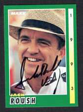 Jack Roush #104 signed autograph auto 1993 MAXX Nascar Trading Card