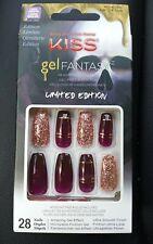KISS Gel Fantasy Nails - Long Length - Limited Ed - Purple Pink Glitter - NEW