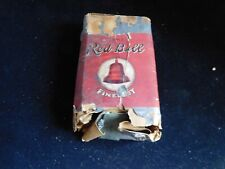 Antique Light Red Bell Fine Cut Chewing Tobacco Package Advertising Tobacciana