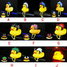 Cartoon Silica Gel Duck Bicycle Bells Shining Bike Handlebar Duck Head Light US