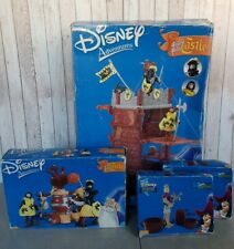 Disney Adventures - Sword In The Stone Toy Castle And Figures Peter Pan Pirates