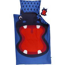 Fred's World by Green Cotton Junior Kinder Bettwäsche blau Hippo 100x135 cm